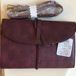 Free People wine red leather bag